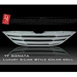 [D8] Hyundai YF Sonata - Luxury 3 Line Radiator Grille (B-Type)