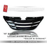 [D8] Hyundai YF Sonata - Luxury 3 Line Radiator Grille (C-Type)