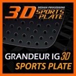 [DXSOAUTO] Hyundai Grandeur IG - 3D Sports Plate Circle Type Set