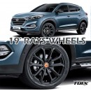"[MOBIS] Hyundai All New Tucson TL​ - TUIX 19"" RAYS Alloy Wheels Set"