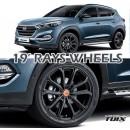 "[MOBIS] Hyundai All New Tucson TL - TUIX 19"" RAYS Alloy Wheels Set"