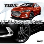 "[MOBIS] Hyundai Avante  AD - TUIX 17"" Black Chrome Wheels Set"