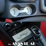 [ARTX] Hyundai Avante AD - Cup Holder & Console Interior Luxury Plates Set