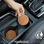 [CACAO] Hyundai i30 - Cup Holder & Console Tray Pad Set