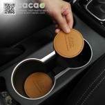 [CACAO] Hyundai i30 - Cup Holder & Console Tray Pad Set