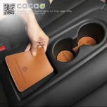 [CACAO] Hyundai Veloster - Cup Holder & Console Tray Pad Set
