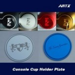 [ARTX] KIA All New Pride - Cup Holder & Console Interior Luxury Plates Set