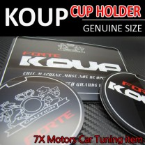 [7X] KIA Forte Koup / Cerato Koup - Cup Holder & Console Interior Luxury Plates Set