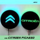 [ARTX] Citroën Grand C4 Picasso - LED Cup Holder & Console Interior Luxury Plates Set