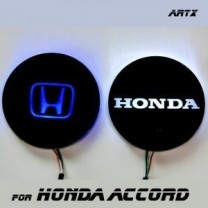 [ARTX] Honda Accord 8G - LED Cup Holder & Console Interior Luxury Plates Set