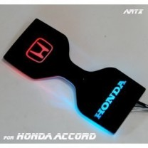 [ARTX] Honda Accord 9G - LED Cup Holder & Console Interior Luxury Plates Set