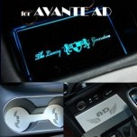 [ARTX] Hyundai Avante AD - LED Cup Holder & Console Interior Luxury Plates Set