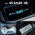 [ARTX] Hyundai Avante AD - LED Cup Holder & Console Interior Luxury Plates Set