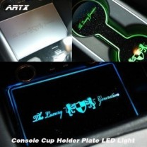 [ARTX] Hyundai New Accent - LED Cup Holder & Console Interior Luxury Plates Set