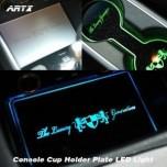 [ARTX] Hyundai Veloster - LED Cup Holder & Console Interior Luxury Plates Set