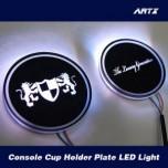 [ARTX] Hyundai Veracruz / ix55 - LED Cup Holder Plates Set