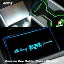 [ARTX] KIA K3 - LED Cup Holder & Console Interior Luxury Plates Set