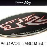 [ARTX] KIA New K7 - Wild Wolf Tuning Emblem Full Set