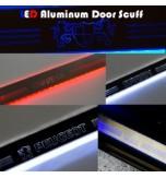 Накладки на пороги LED (АЛЮМИНИЙ)  - KIA K3 (ARTX)