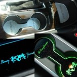 [ARTX] Chevrolet All New Malibu - LED Cup Holder & Console Interior Luxury Plates Set