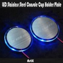 [ARTX] Hyundai Veracruz / ix55 - LED Stainless Cup Holder Plates Set