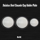 [ARTX] KIA All New Pride - Stainless Cup Holder Plates Set