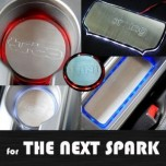 [ARTX] Chevrolet The Next Spark - LED Stainless Cup Holder & Console Plates Set