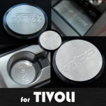 [ARTX] SsangYong Tivoli - Stainless Cup Holder & Console Plates Set