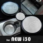 [ARTX] Hyundai New i30 - Stainless Cup Holder & Console Plates Set