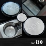 [ARTX] Hyundai i30 PD - Stainless Cup Holder & Console Plates Set
