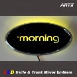 [ARTX] KIA All New Morning - LED Mirror Tuning Emblem Set No.81