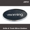 [ARTX] KIA All New Morning 2017 - Mirror Tuning Emblem Set No.83