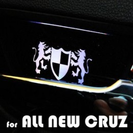 [ARTX] Chevrolet Cruze 2017 - Luxury Generation LED Inside Door Catch Plates Set