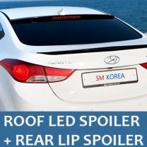 [SM KOREA] Hyundai YF Sonata - LED Glass Wing Roof Spoiler (BLACK) + Lip Spoiler Set