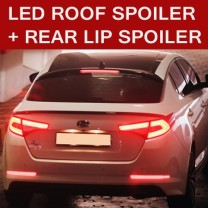 [SM KOREA] KIA K5 - LED Glass Wing Roof Spoiler (BLACK) + Lip Spoiler Set