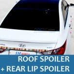 [SM KOREA] Hyundai YF Sonata - Glass Wing Roof Spoiler (BLACK) + Lip Spoiler Set