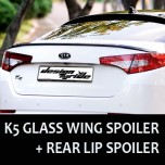 [SM KOREA] KIA K5  - Glass Wing Roof Spoiler (BLACK) + Lip Spoiler Set