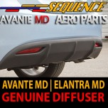 [SEQUENCE] Hyundai Avante MD - Rear Diffuser Set