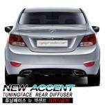 [TUNING FACE] Hyundai New Accent - Rear Diffuser Set