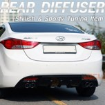 [SAMWON] Hyundai Avante MD -  Dual Type Rear Bumper Diffuser