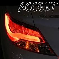 [AUTO LAMP] Hyundai New Accent - F-Style LED Tail Lamp (Red Special)